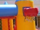 Aro de basquet en columnas